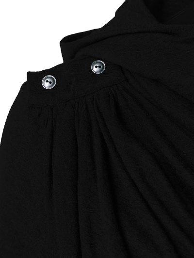 Draped Hoodie - BLACK S Mobile