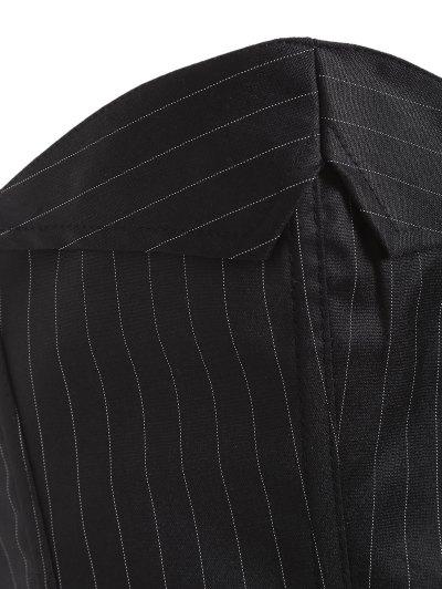 Striped Lace Up Three Piece Corset - BLACK 5XL Mobile