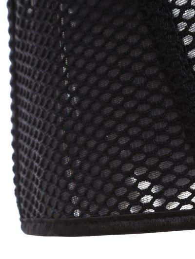 Lace Up Hollow Out Corset - BLACK M Mobile