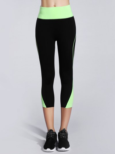Skinny Color Block Capri Leggings от Zaful.com INT