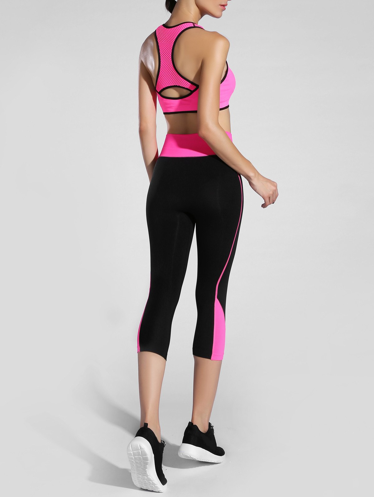 Hollow Out Racerback Sporty Bra