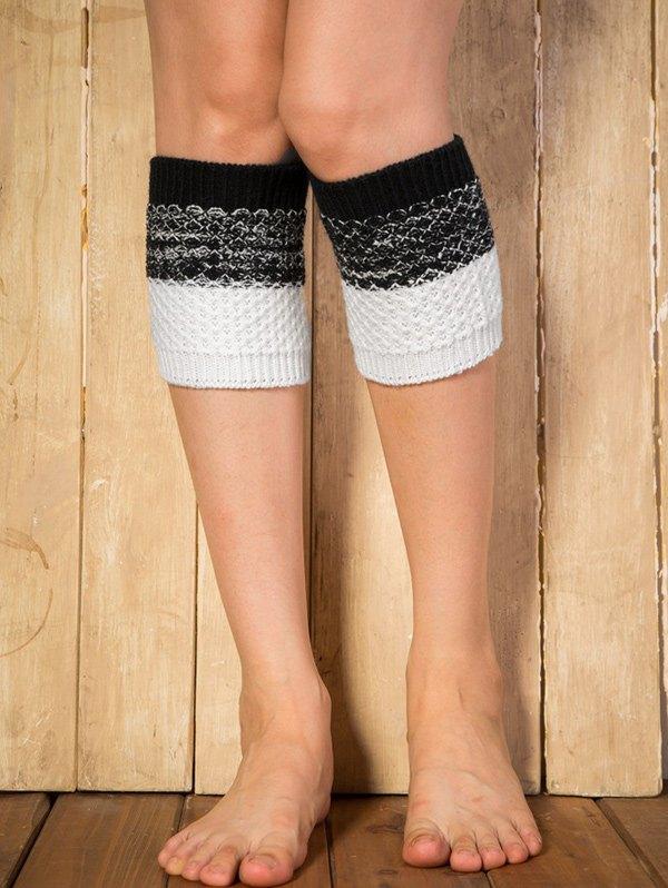 Color Block Yoga Crochet Knit Boot CuffsAccessories<br><br><br>Color: BLACK