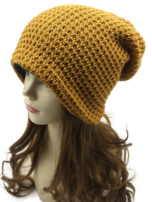 Weaving Double-Deck Knit Beanie