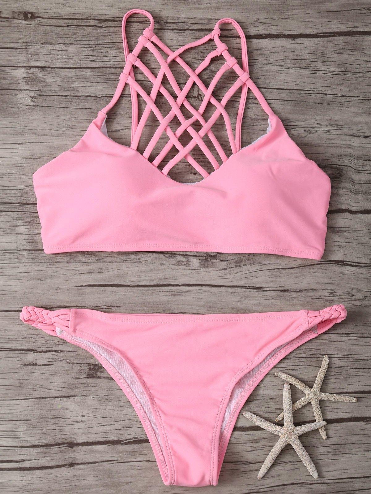 Crisscross Strap High-Cut Bikini