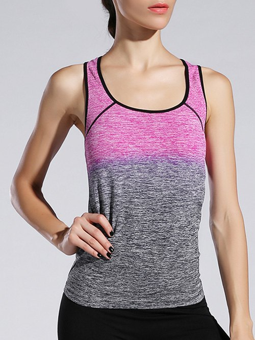 Space-Dyed Ombre Sporty Tank Top