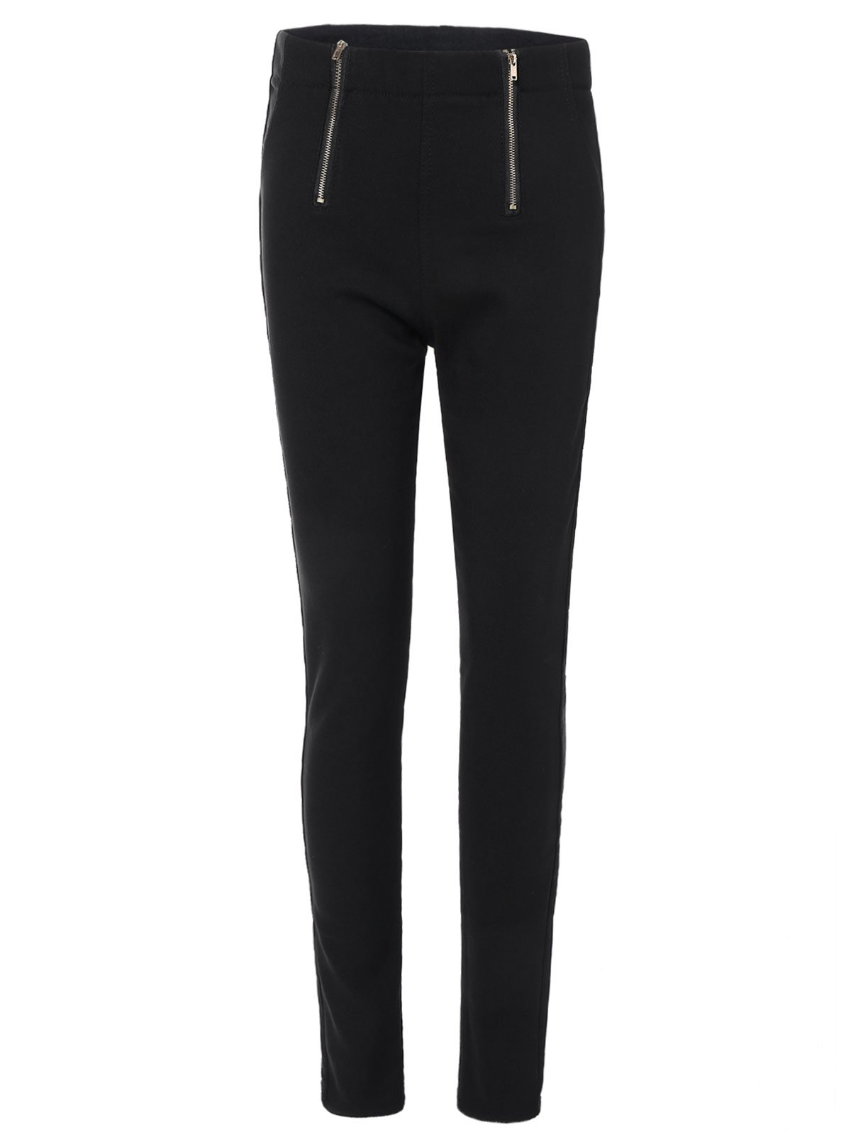 Casual Zipper Embellished Pencil Pants