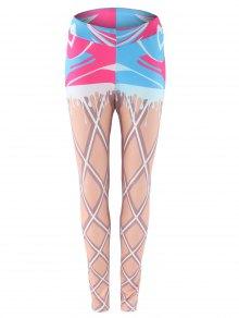 Buy Two Piece Look Printed Leggings L
