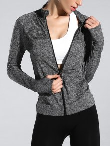 Glove Sleeve Sports Jacket - Gray