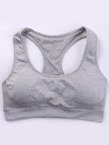Racerback Padded Sporty Bra - Gray