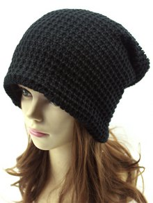 Openwork Weaving Double-Deck Knit Beanie