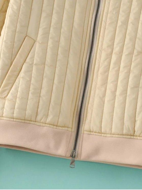 Cotton-Padded Jacket - BLACK S Mobile