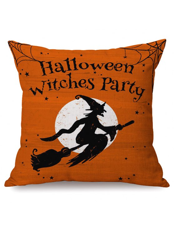 hot Halloween Witches Party Sofa Cushion Printed Pillow Case - COLORMIX