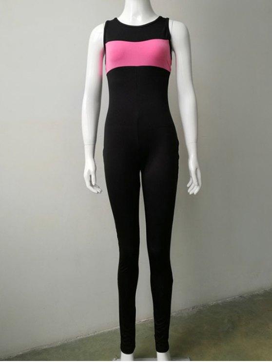 Skinny Leg Jumpsuit - BLACK M Mobile