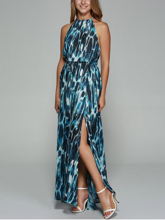outfit Sleeveless Printed High Slit Dress - COLORMIX XS