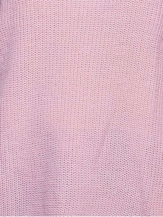 Foldover Off The Shoulder Sweater - PINK S Mobile