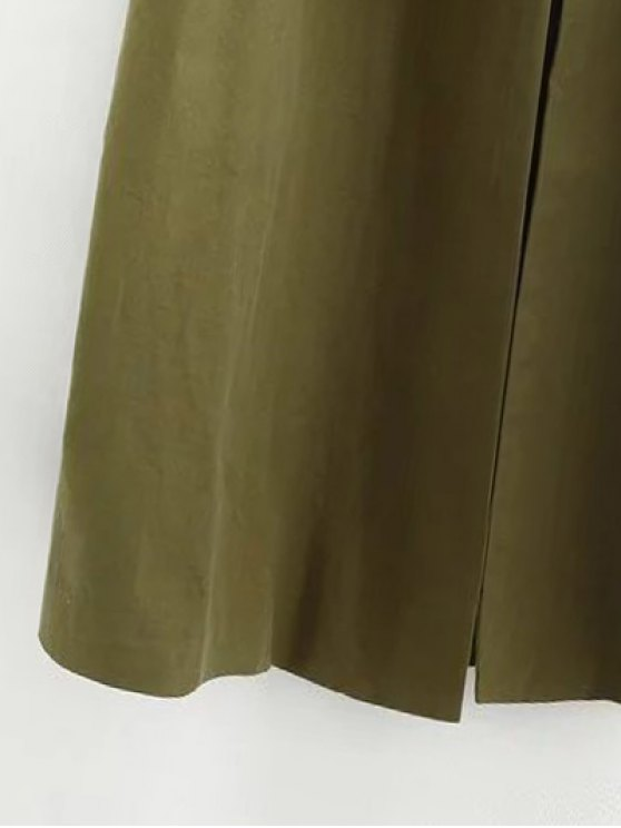 Buttonless Raglan Sleeve Trench Coat - BLACK S Mobile