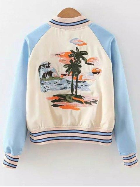 shops Baseball Raglan Sleeve Jacket - APRICOT S Mobile