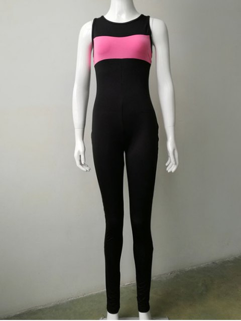 latest Skinny Leg Jumpsuit - BLACK M Mobile