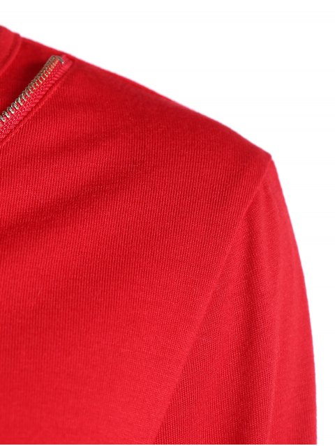new Zippered Pocket Design Sports Suit - RED XL Mobile