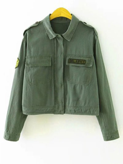 Shirt Jacket With Epaulet - Green