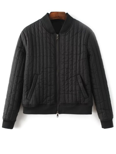 Cotton-Padded Jacket - Black