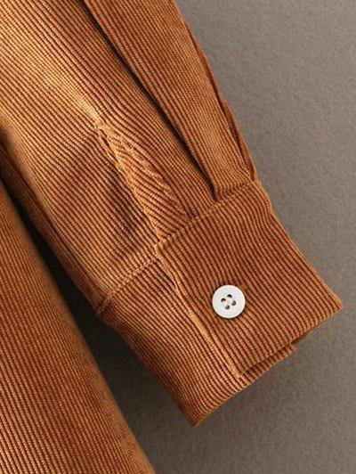 Corduroy High-Low Shirt - CRYSTAL CREAM S Mobile