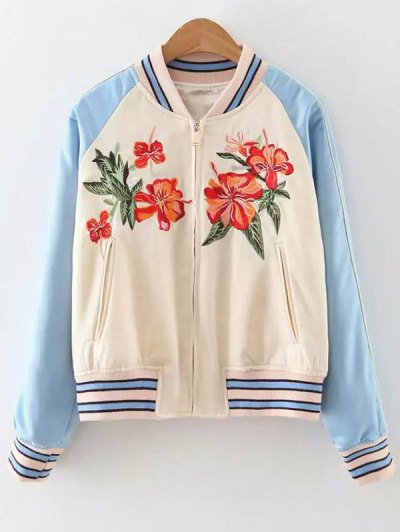 Baseball Raglan Sleeve Jacket - Apricot