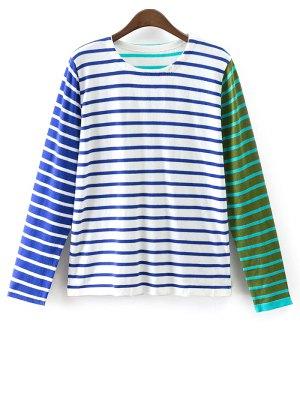 Colorful Stripe T-Shirt - Blue
