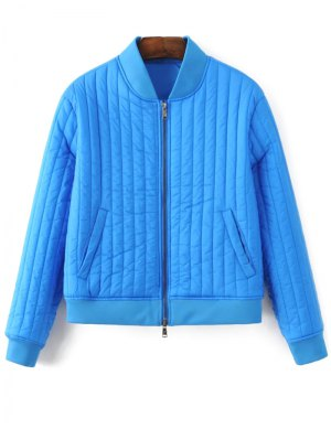 Cotton-Padded Jacket - Sapphire Blue