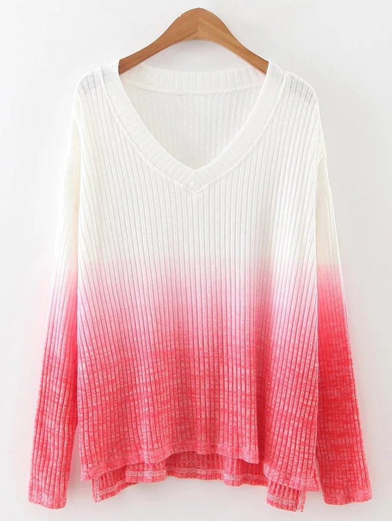 Ombre Loose Slit Knitwear