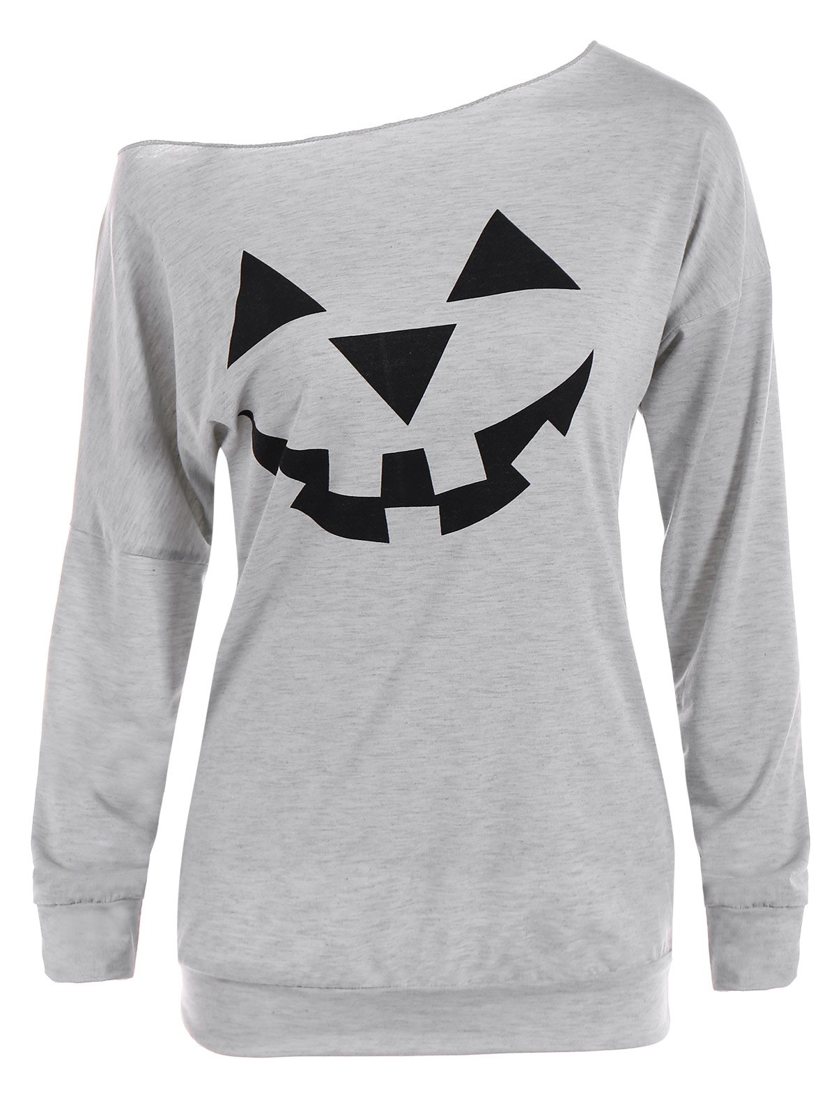 One Shoulder Pumpkin Print Halloween Sweatshirt от Zaful.com INT