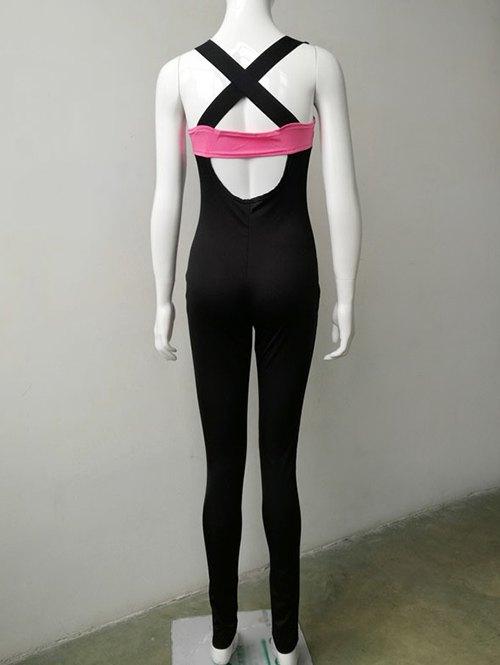 Criss Back Cut Out Sport Jumpsuit
