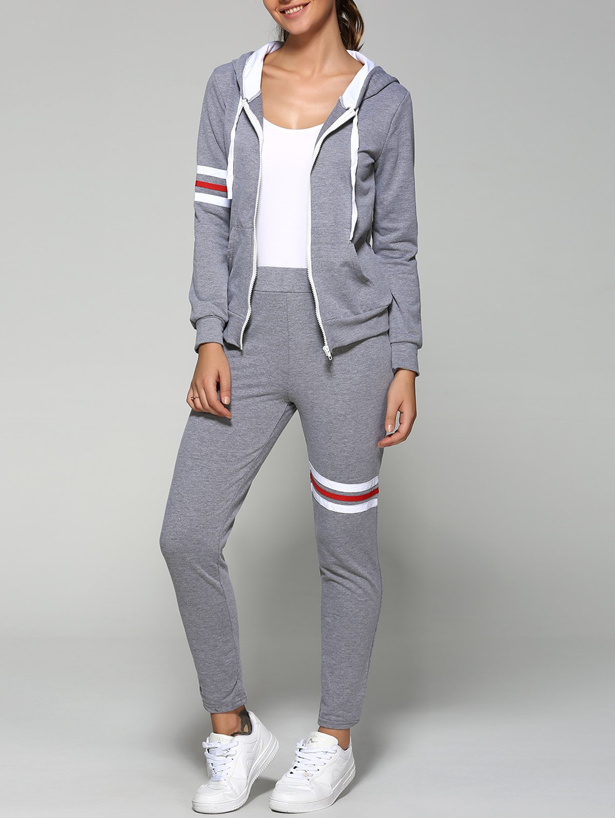Zip Up Hoodie and Joggers Pants