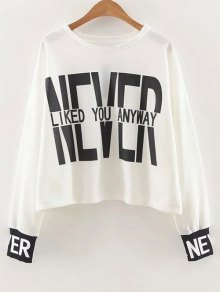 Slouchy Dropped Shoulder Graphic Sweatshirt