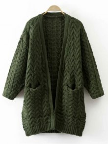 Thickening Cable Knit Cardigan