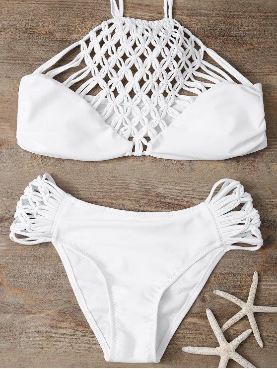Ahueca hacia fuera el cabestro bikini - Blanco S