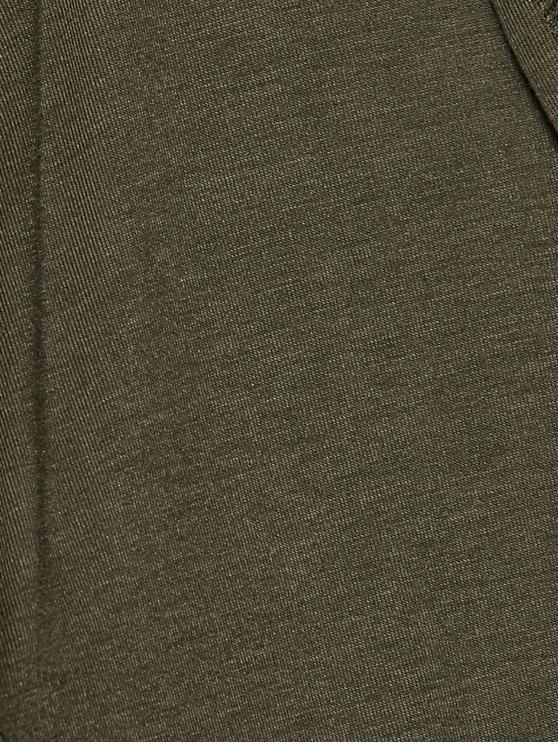 Longline Hooded Dust Coat - ARMY GREEN L Mobile