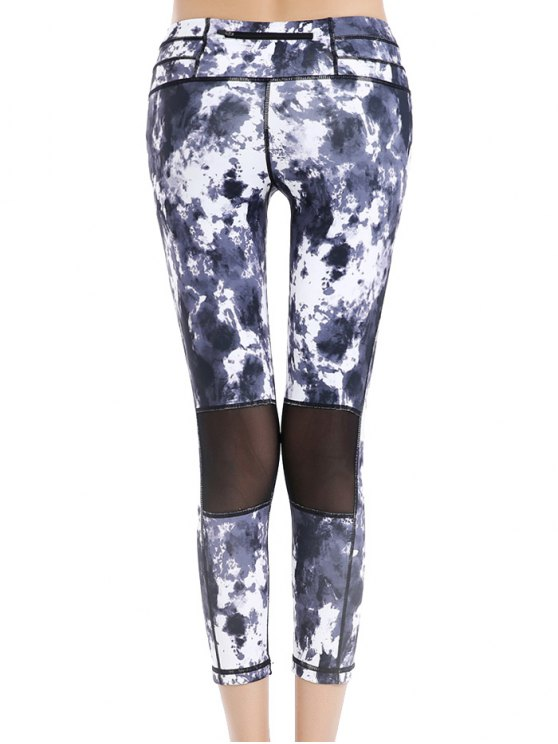 Printed Cropped Leggings - COLORMIX L Mobile