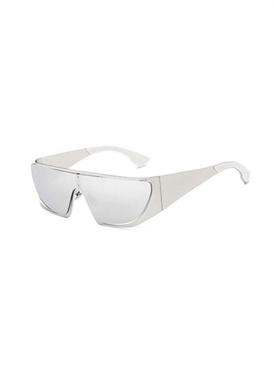 Ahueca hacia fuera el espejo gafas de sol de ciclo - Plata