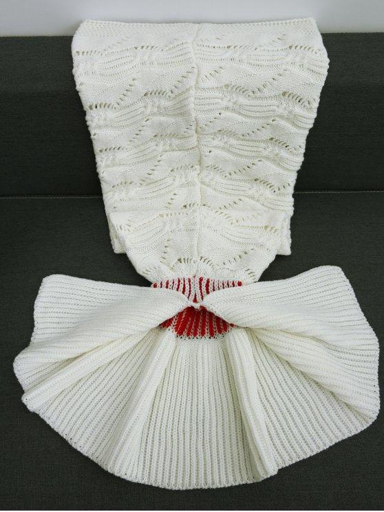 Knitted Hollowed Wrap Kids Mermaid Blanket -   Mobile