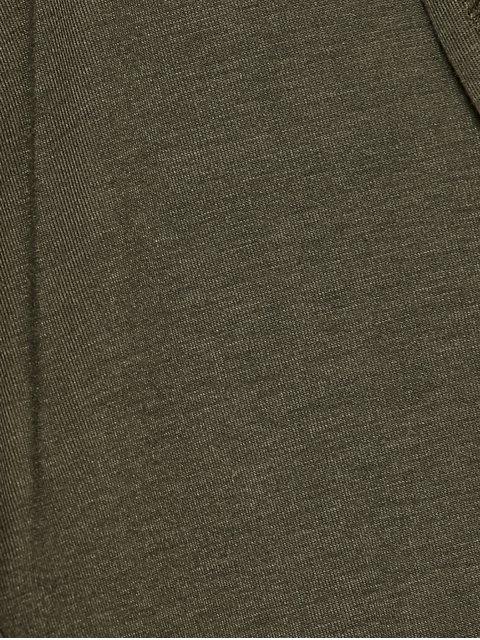 women's Longline Hooded Dust Coat - ARMY GREEN S Mobile