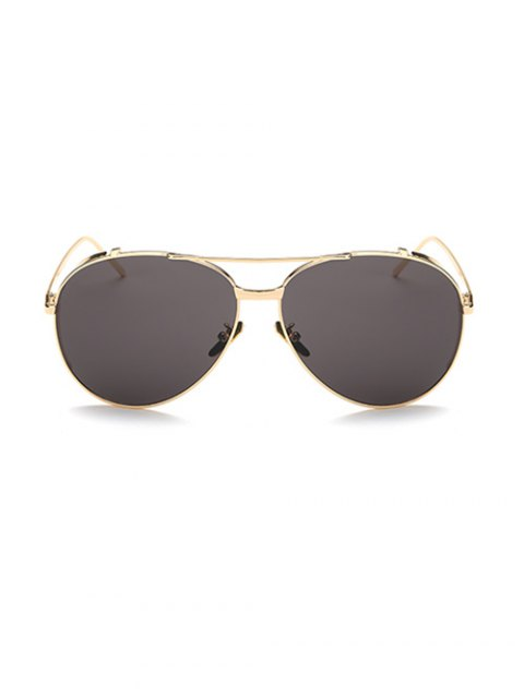 women's Crossbar Metal Pilot Sunglasses - GOLDEN  Mobile