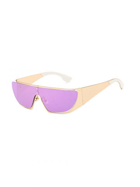 affordable Hollow Out Cycling Mirrored Sunglasses - LIGHT PURPLE  Mobile