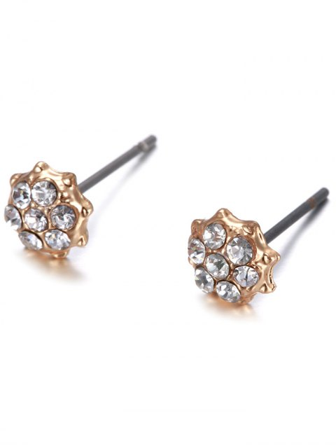 latest 5PCS Different Shape Rhinestone Earrings Set - GOLDEN  Mobile