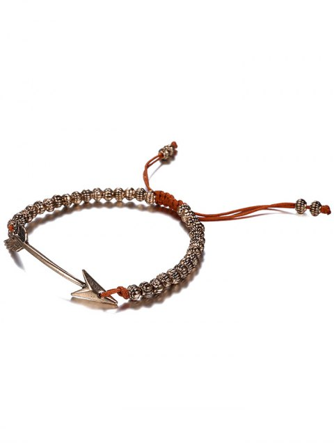 hot Retro Woven Rope Arrow Bracelet - COFFEE AND GOLDEN  Mobile