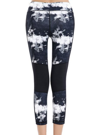Print Stretchy Sport Capri Leggings