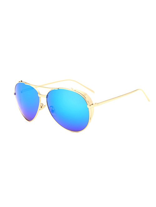 Metal Pilot Mirrored Sunglasses