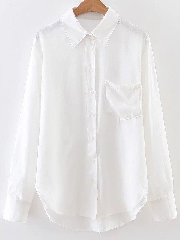 Casual Linen Pocket Shirt