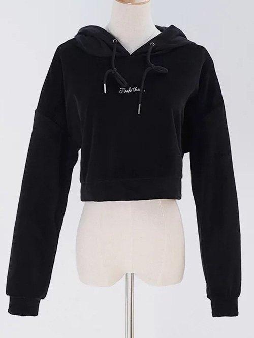 Cropped Pullover Velvet Hoodie