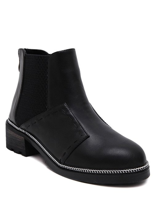 Elastic Band Stitching Ankle Boots